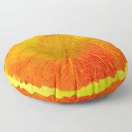 Orange Leaf Vivid Green Background #decor #society6 #buyart Floor Pillow