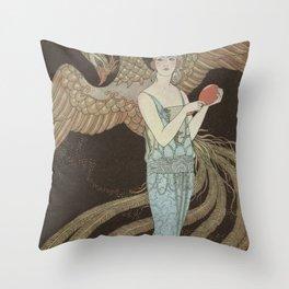 Robe du soir, the Bear, George Barbier, 1922 Throw Pillow