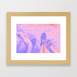Looking down, 120-80cm, 2016, oil on canvas Framed Art Print