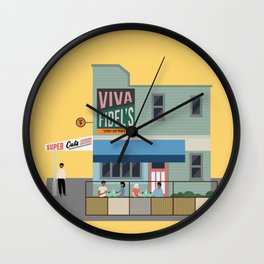 Fidel's Cafe, Cuba Street, Wellington, NZ Wall Clock