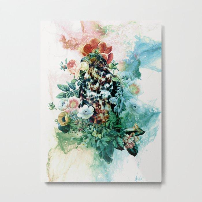 Bird in Flowers Metal Print