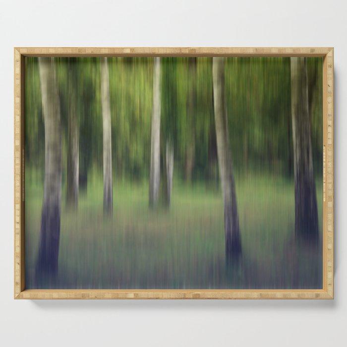 flickering birches Serving Tray
