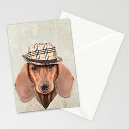 The stylish Mr Dachshund Stationery Cards