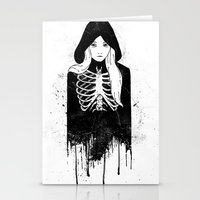 bones Stationery Cards featuring Bones by Jaaaiiro