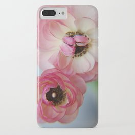 Pink Ranunculus Flower iPhone Case