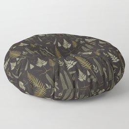 Fern pattern black Floor Pillow