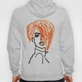 orange hair girl Hoody