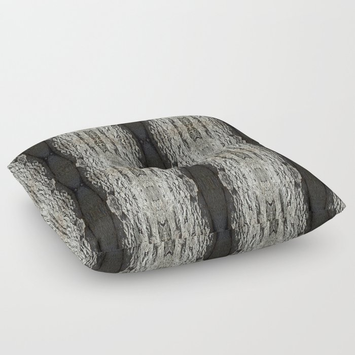 Oak Tree Bark Vertical Pattern by Debra Cortese Designs Floor Pillow
