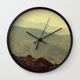 Palm Springs Mountains I Wall Clock