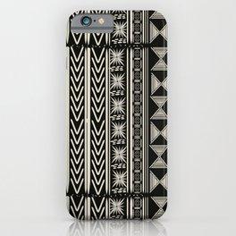 Boho Mud cloth (Black and White) iPhone Case