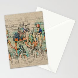 Egyptian Gods on canvas Stationery Cards