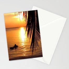 Island sunset relaxation Stationery Cards
