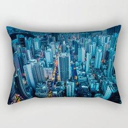 Hong Kong downtown at night Rectangular Pillow