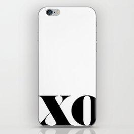 Hugs & Kisses Typography iPhone Skin