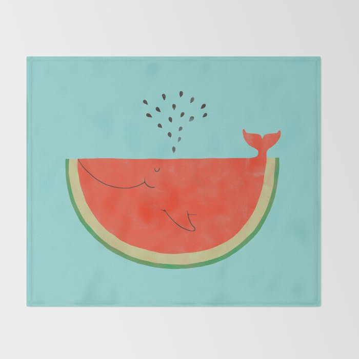 Don't let the seed stop you from enjoying the watermelon Throw Blanket