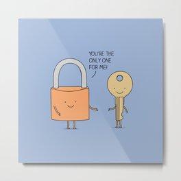 Lock and key Metal Print
