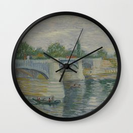 The Bridge at Courbevoie Wall Clock