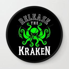 Release The Kraken Wall Clock