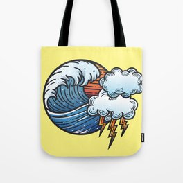 Thunder and Lightening Tote Bag