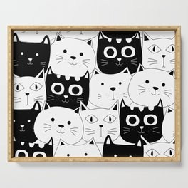 Cat Pattern Serving Tray