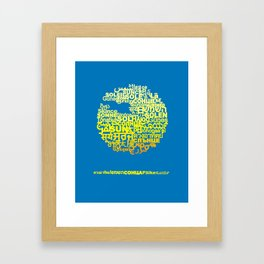 Sun in Different Languages Framed Art Print