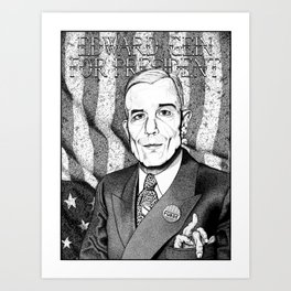 Ed Gein For President Art Print