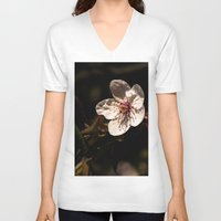 cherry blossom V-neck T-shirts featuring cherry blossom by Eduard Leasa Photography