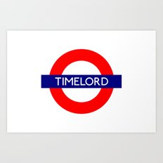 Timelord Art Print