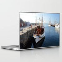 oslo Laptop & iPad Skins featuring Classic Boats In Oslo by Malcolm Snook