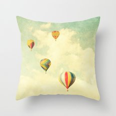 Drifting Balloons Throw Pillow