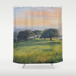 Sun's almost gone Painting Shower Curtain
