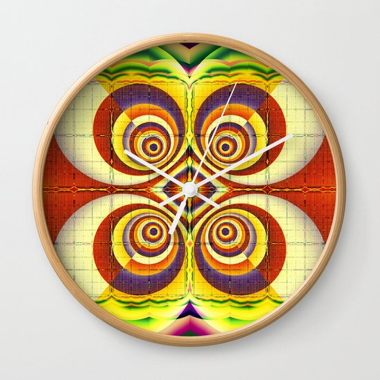 Colourful circles and other patterns Wall Clock