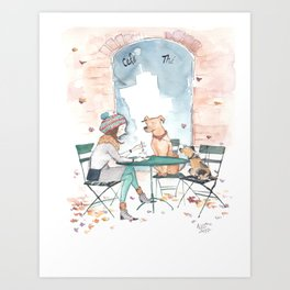Coffee With Friends Art Print