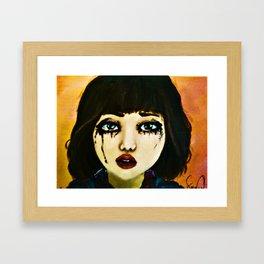 Portrait of a girl (Grown Ups) Framed Art Print