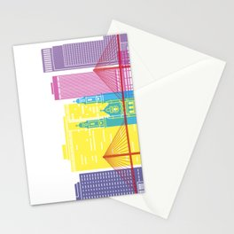 Omaha V2 skyline pop Stationery Cards