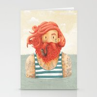 ginger Stationery Cards featuring Octopus by Seaside Spirit
