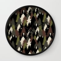 bears Wall Clocks featuring BEARS by Kimsa