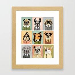 Mad Men Dogs Framed Art Print