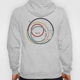 for Love || words & circles Hoody