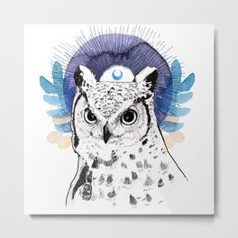 The Owl (Spirit Animal) Metal Print
