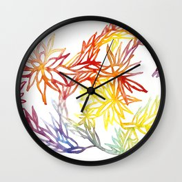 Flower Burst Color High Wall Clock