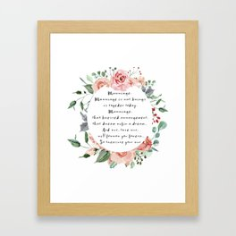 Princess Bride Marriage Mug Framed Art Print