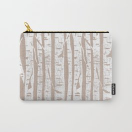 Woodcut Birches Carry-All Pouch