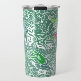 Body Map - Sea Green Travel Mug