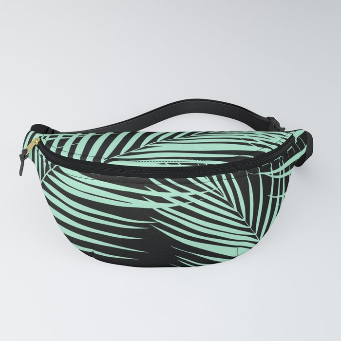 Palm Leaves - Mint Cali Vibes #1 #tropical #decor #art #society6 Fanny Pack