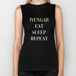Iyengar Eat Sleep Repeat Biker Tank