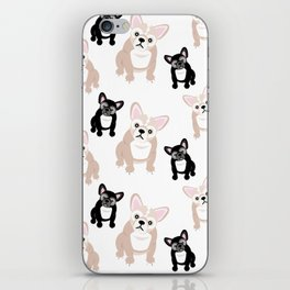 Cute French Bulldog Pattern iPhone Skin