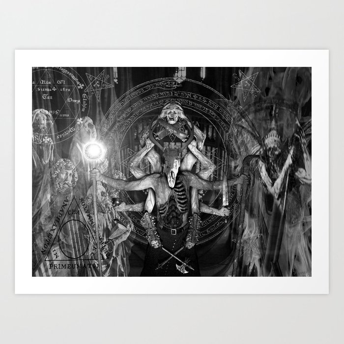 The necromancer 2 black white art print