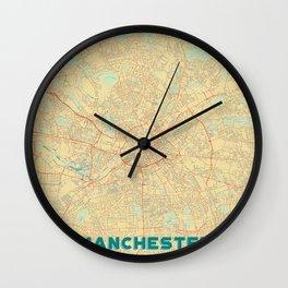 Manchester Map Retro Wall Clock