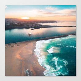 Sky view for the beach in the sunset Canvas Print